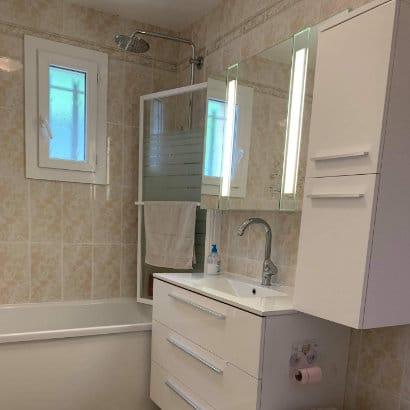 Photo de la rénovation d'un salle de bain à Marignane, après