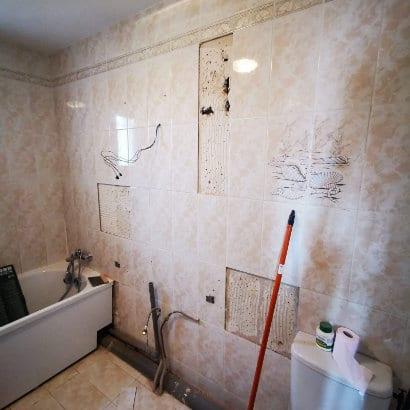 Travaux de rénovation d'une salle de bain à Marignane avant