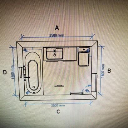Plan salle de bain rénovation  Marignane avant